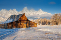 moulton barn, winter, sunrise, Tetons, Grand Teton, 2007