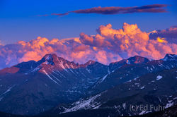 Sunset Atop Rocky Mountain NP