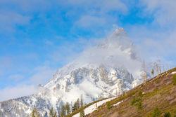 grand teton, snow, spring, peak, string lake, Tetons