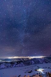 milky way, winter, Tetons, Grand Teton