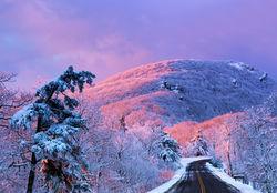 shenandoah, winter, snow, mountain, skyline drive, photograph, thanksgiving, landscape, stony man, sunrise