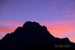 Mount Moran at Dusk