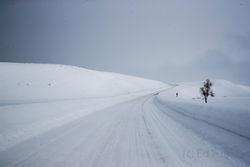 road, winter, Tetons, Grand Teton