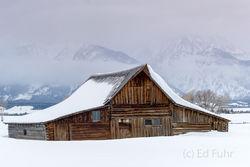 moulton, barn, winter, snow, Tetons, Grand Teton