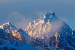 teton, peaks, winter, Tetons, Grand Teton