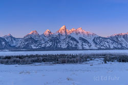 winter, sunrise, teton, Tetons, Grand Teton