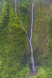 Kauai, waterfall, canyon, aerial, napali,