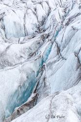 Crevasse on Svinafellsjokull