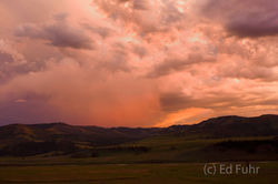 Sunset Storm on the Lamar Valley