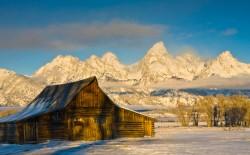 Moulton Barn in Winter