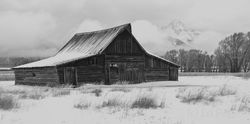 moulton barn, tetons, snow, winter