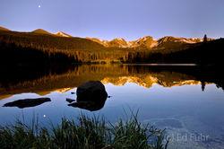 Moon Over Sprague Lake