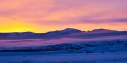 Teton Valley Sunset Panoramic