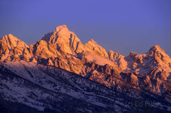 grand teton, sunrise, winter