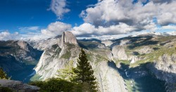 glacier point, yosemite, half dome, panorama