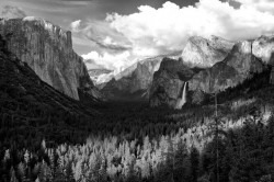yosemite, black and white, yosemite valley, bridal veil, tunnel view, photo, photograph