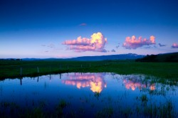 pond, teton, reflect, sunset