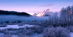 tetons, fog, winter, photo, phtograph