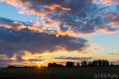 Sunset Over Lake Clark
