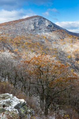 Hawsbill in Winter, Crescent Rock Overlook