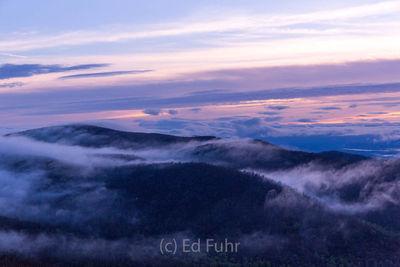 Dawn Break With Flowing Fog