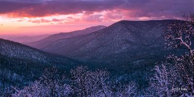 Winter Panorama, Old Rag Mountain