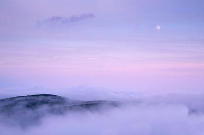 shenandoah, photograph, mountain, moon, old rag