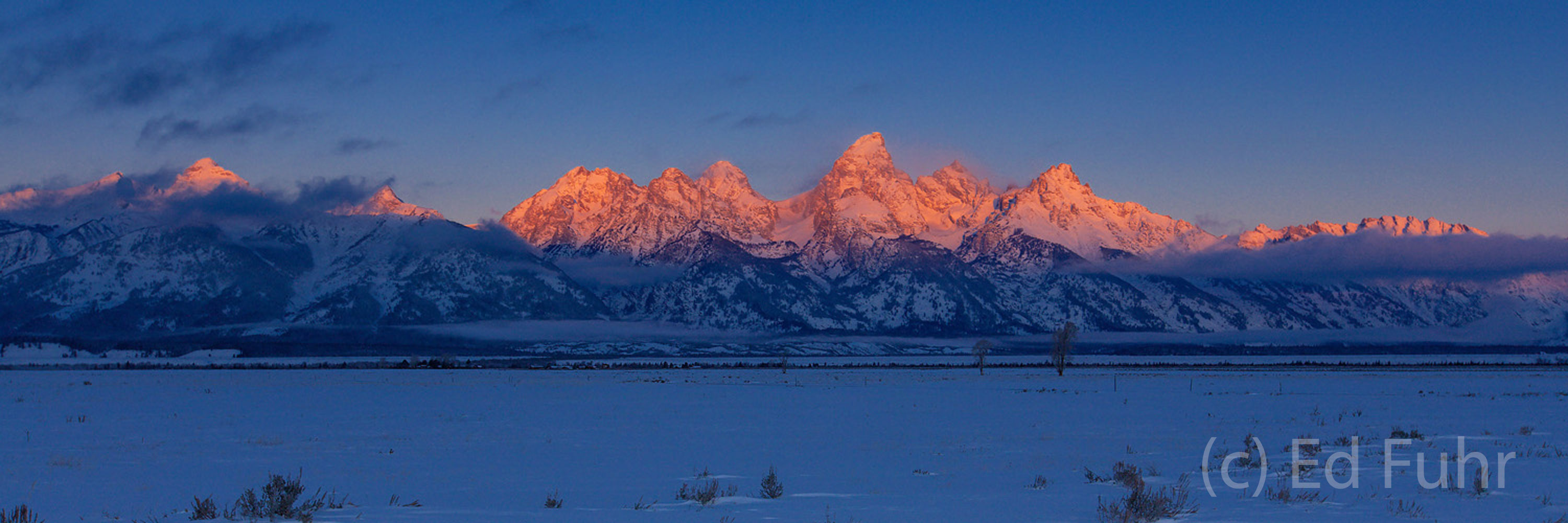 Teton Sunrise Panorama, December 2007