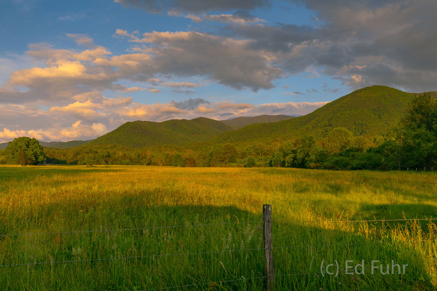 sunset, cades cove, photo