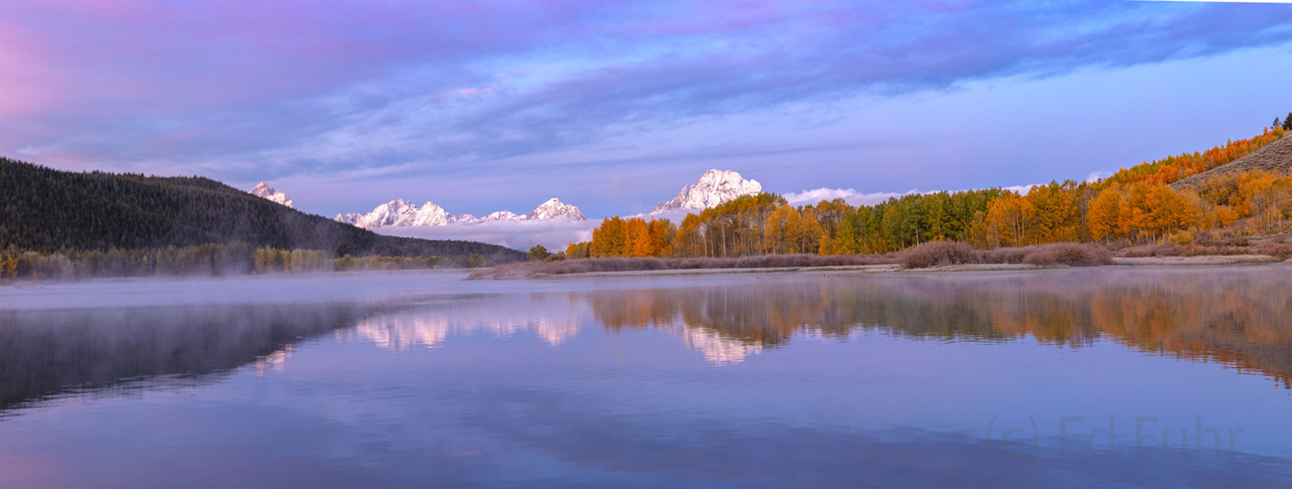 panorama, oxbow bend, autumn, Tetons, Grand Teton, photo