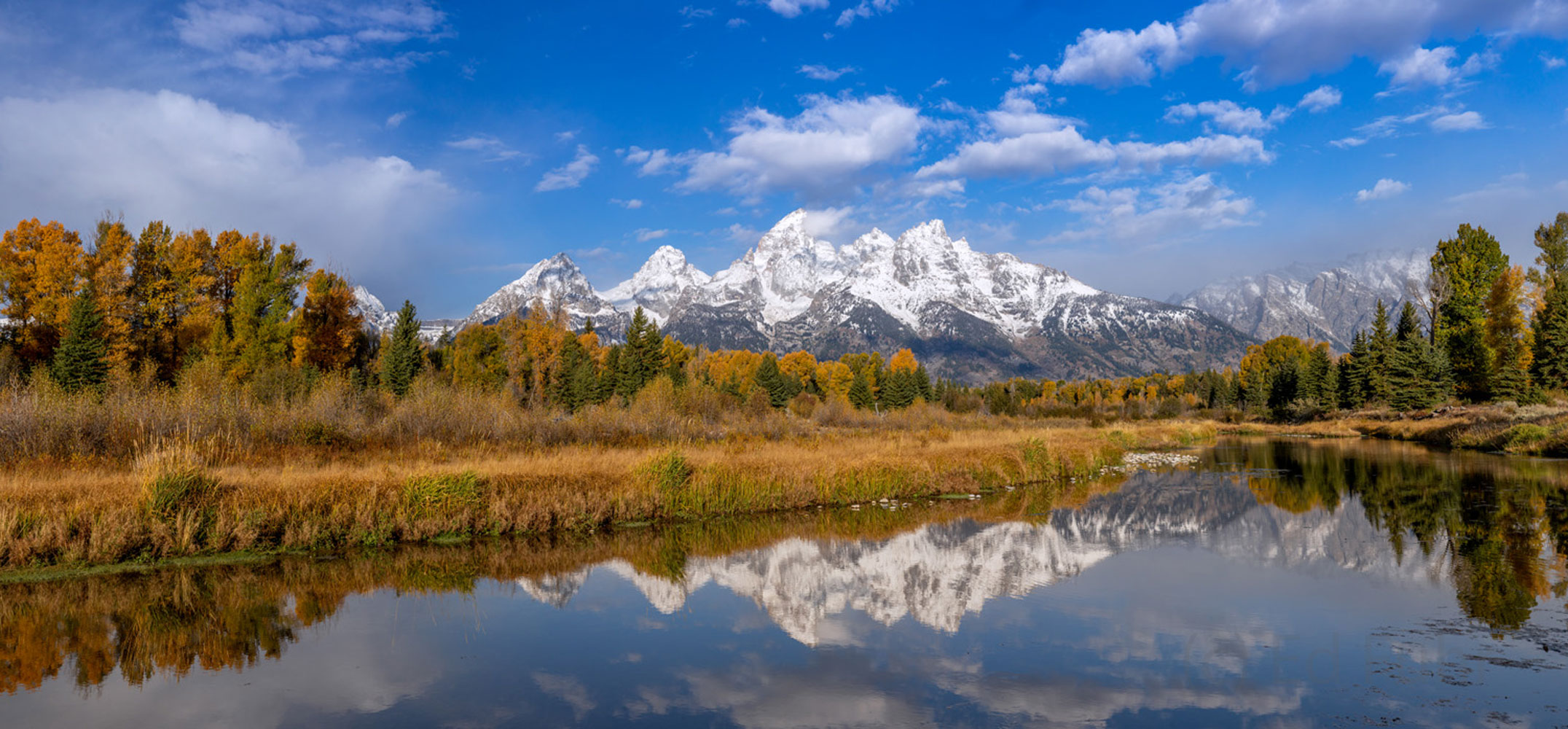 schwabacher landing, autumn, Tetons, Grand Teton, photo