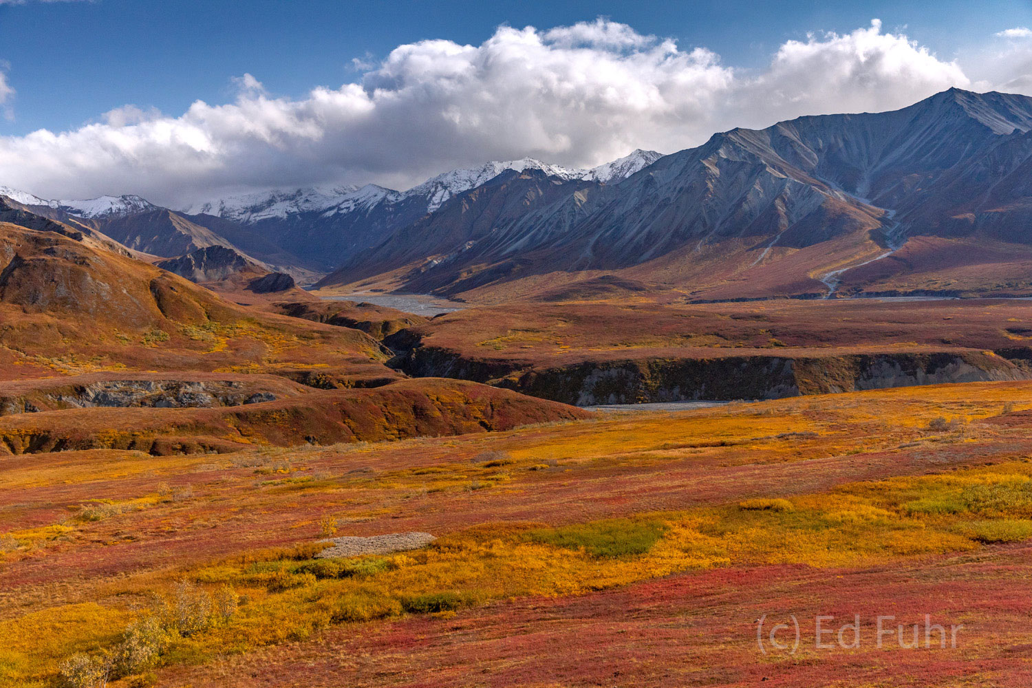 Thorofare Pass shows off fall's colors and winter's early snowy arrival