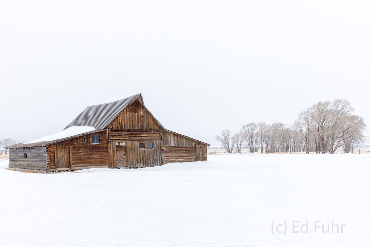 moulton, barn, winter, Tetons, Grand Teton, photo