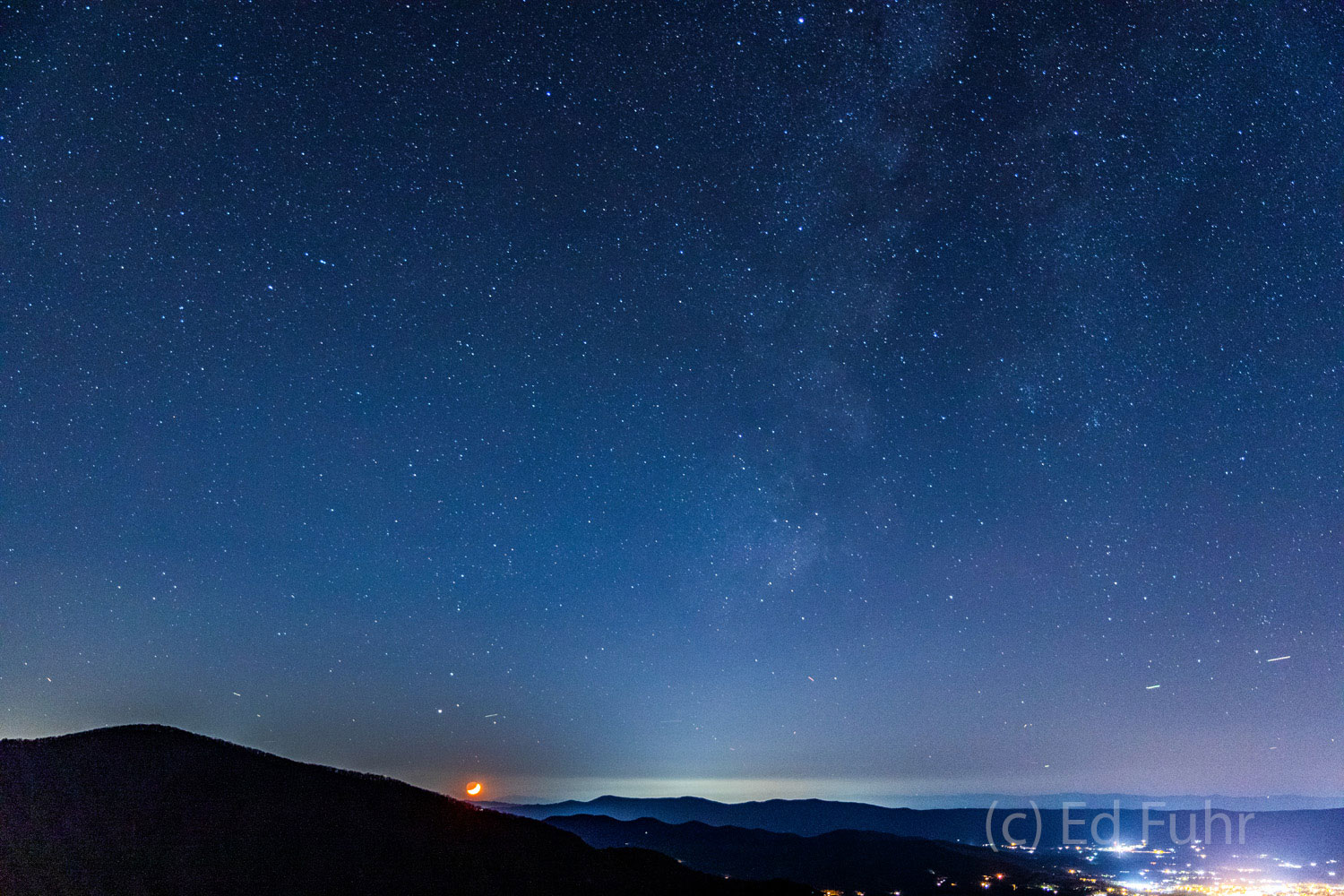 milky way, shenandoah, luray, photo