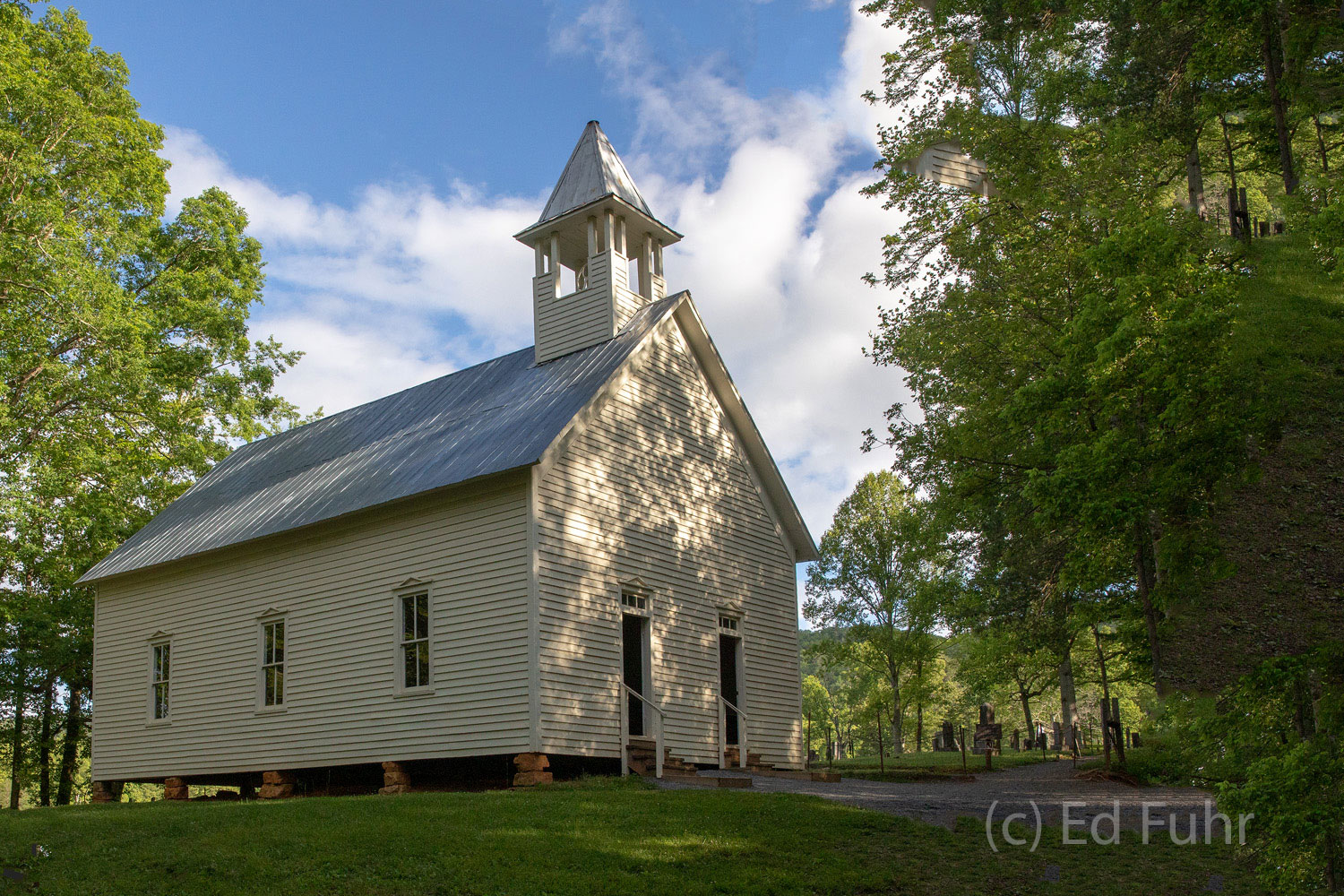 Several churches punctuate the Cades Cove valley and the surrounding mountain landscape, eternal reminders of those who settled...