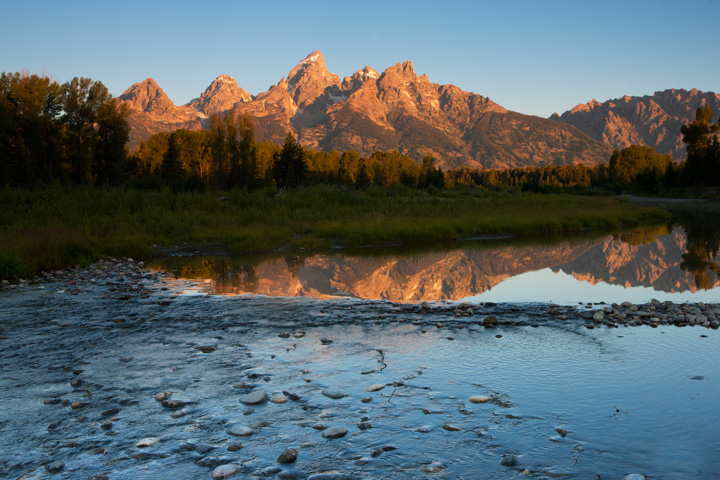 schwabacher's landing, tetons, photo