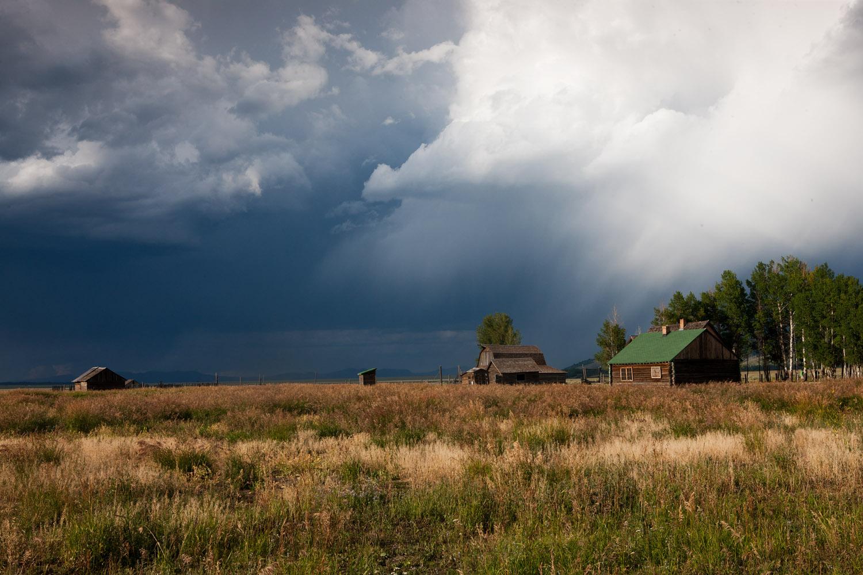 thunderstorm, tetons, mormon row, photo