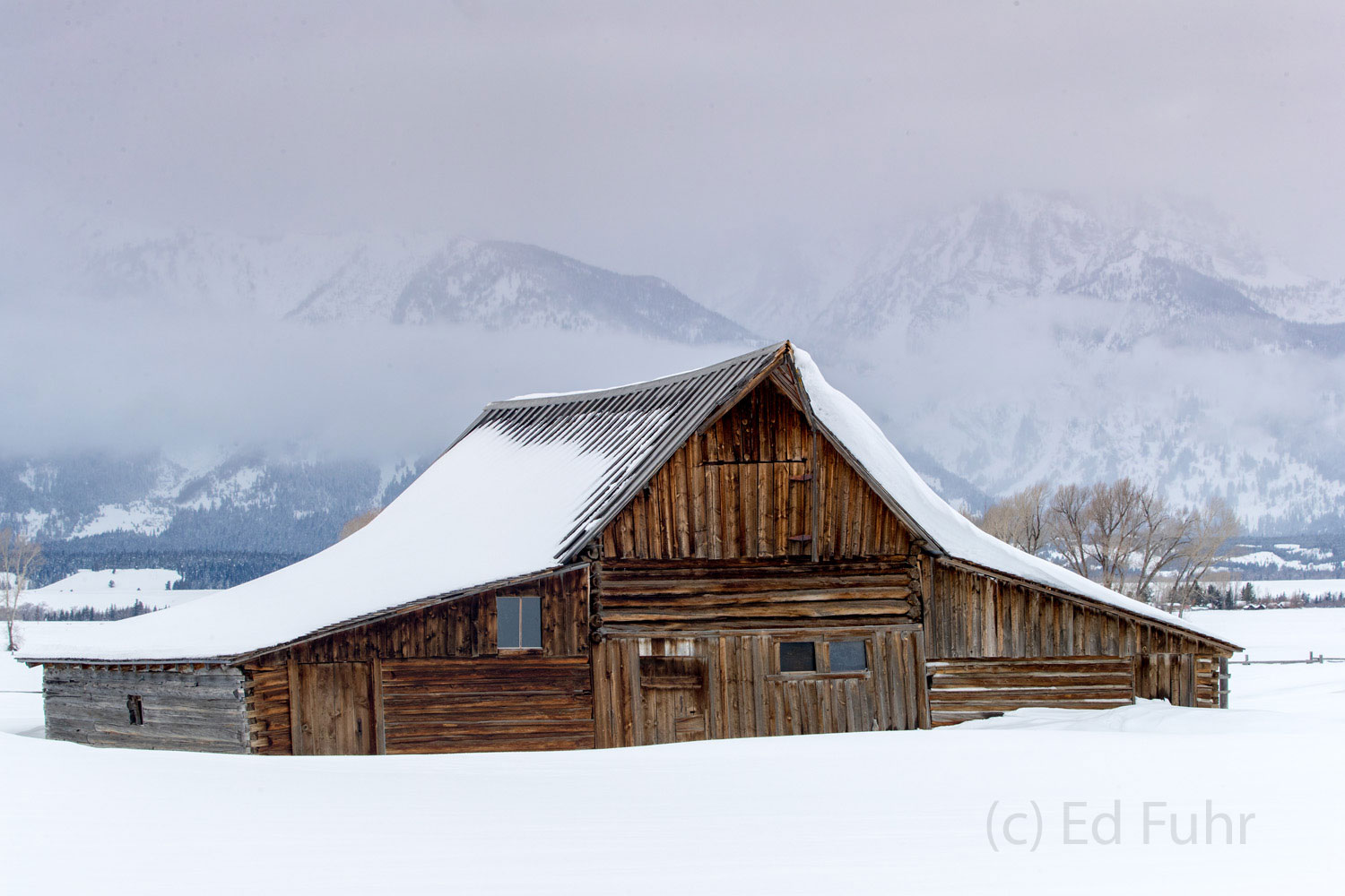 moulton, barn, winter, snow, Tetons, Grand Teton, photo