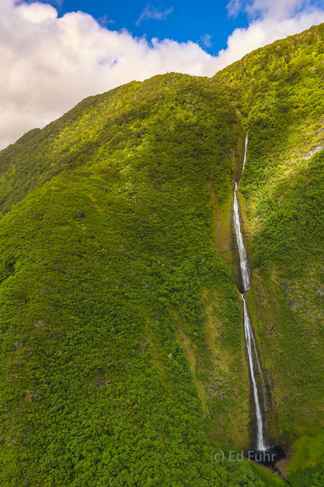 These waterfalls must be thousands of feet and it seems to take forever to rise high enough to see its top after flying in near...