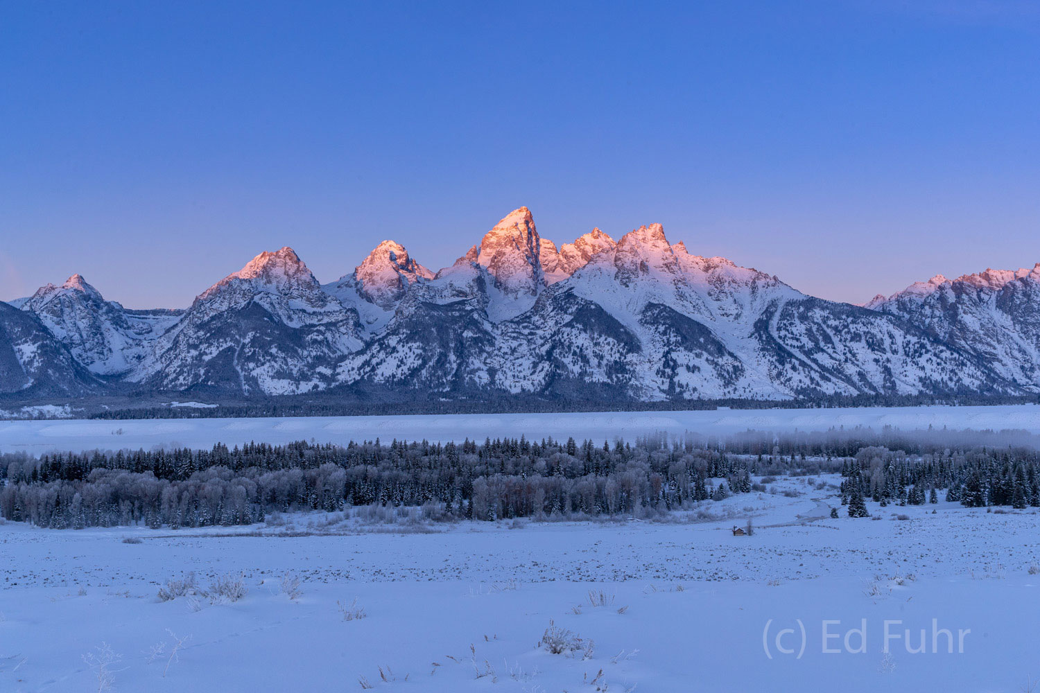 winter, sunrise, teton, Tetons, Grand Teton, photo