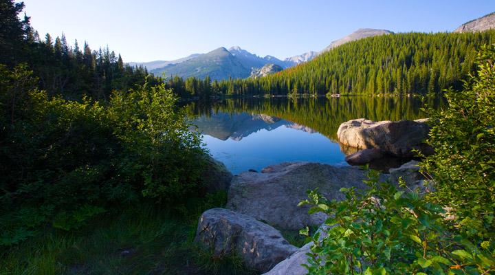 Bear Lake, sunrise, RMNP, rocky mountain national park, photo