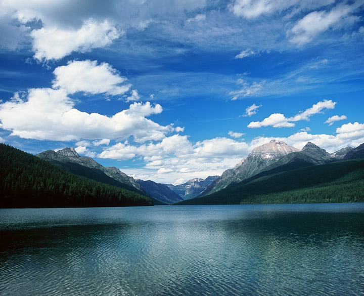 Bowman Lake, Glacier, photo