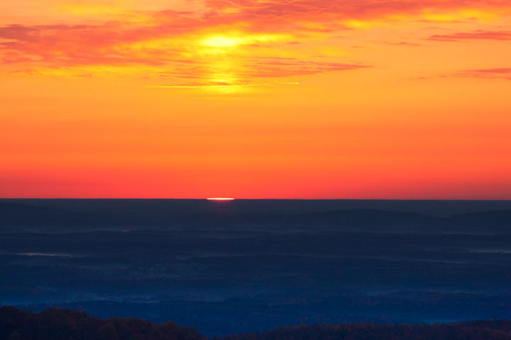 sunrise, horizon, shenandoah national park, photo