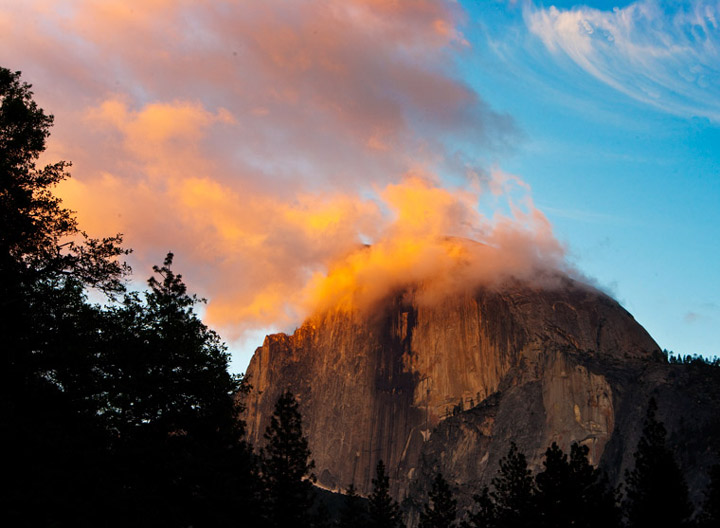 half dome, yosemite,, photo