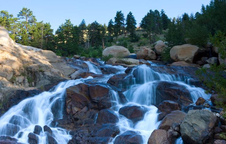 Horseshoe Falls, Horseshoe Park, RMNP, Rocky Mountain National Park, photo