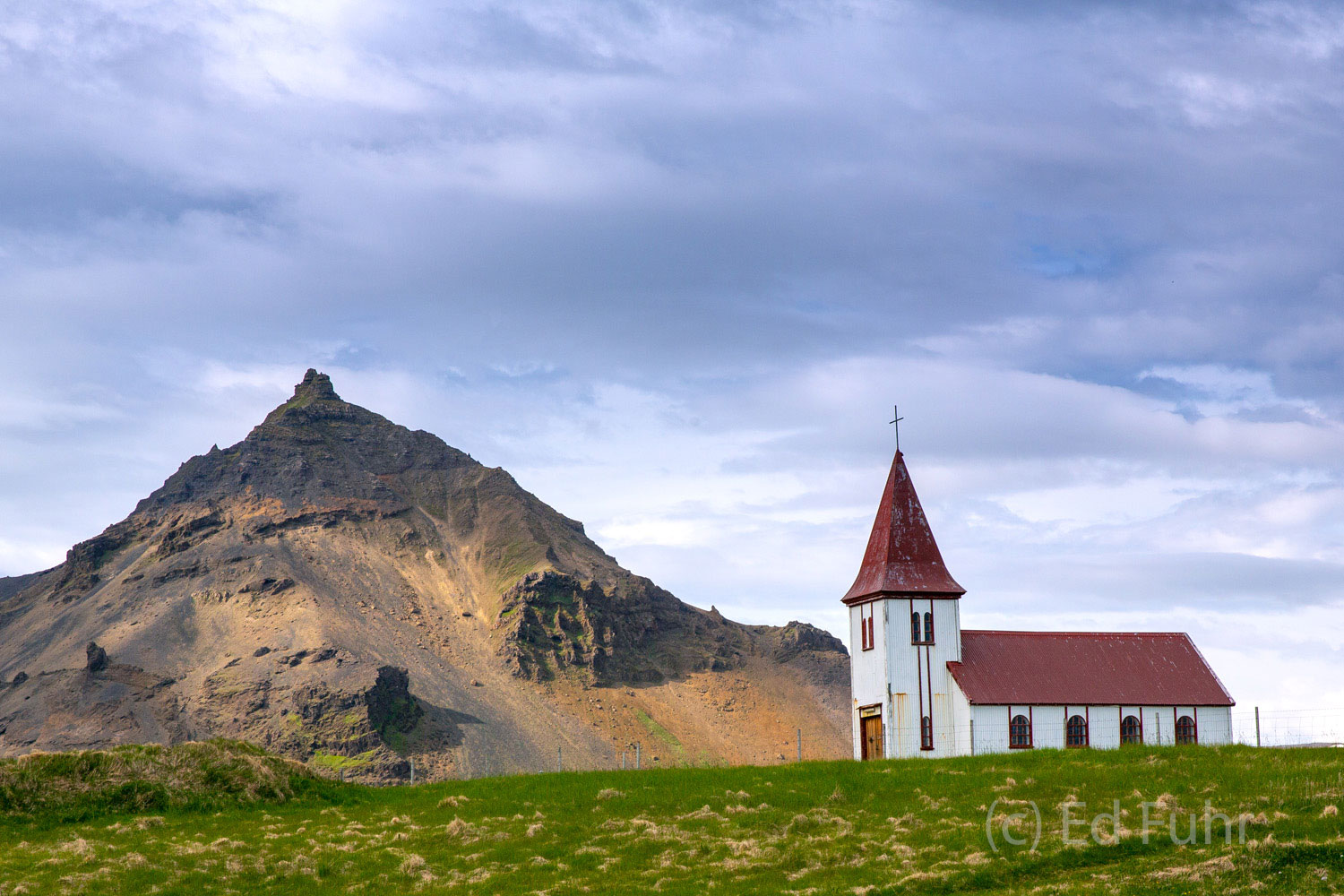 Located in the small town of Hellnar, whose population crested in the mid 18th century when nearly 150 fishermen lived there...
