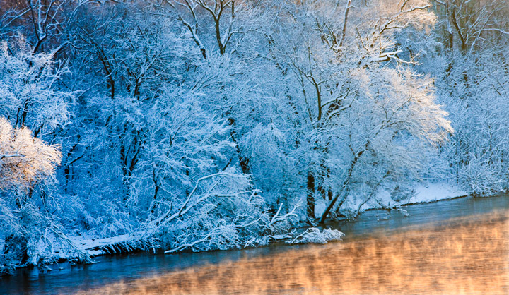 james river, snow, richmond, virginia, sunrise, photo