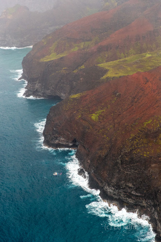 Kauai, waterfall, canyon, aerial, napali, , photo