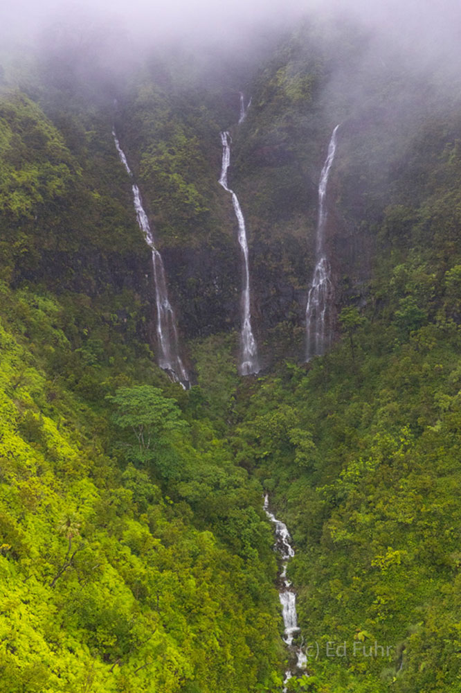 Largely desolate and isolated, Kauai's waterfalls have served as the inspiration and backdrop to countless movies.