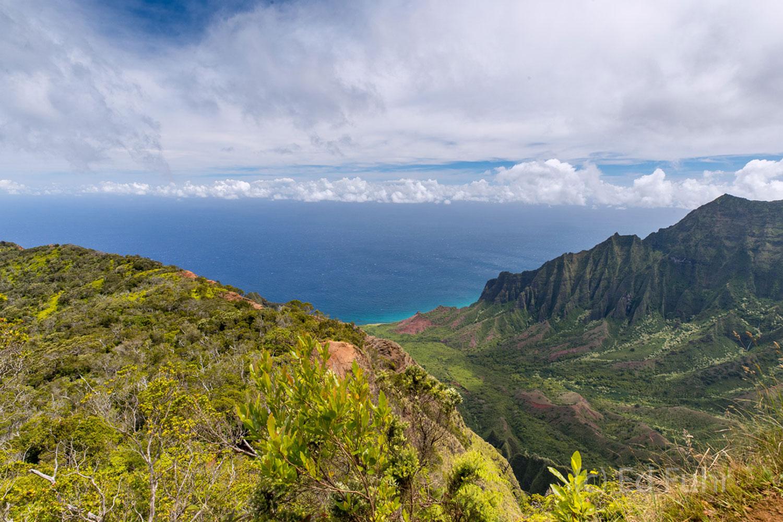 Kauai, waterfall, canyon, aerial, napali, , photo